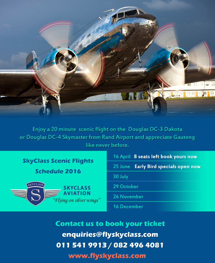 2016 Skyclass scenic flight schedule