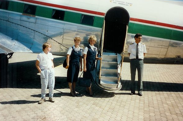 42963 ZS-FRM at Bloemfontein 17 December 1985 Captain Dave Lawrence