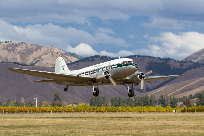 DC-3 adventure new zealand north island bill peach journeys 3-13 march 2019 ZK-AWP