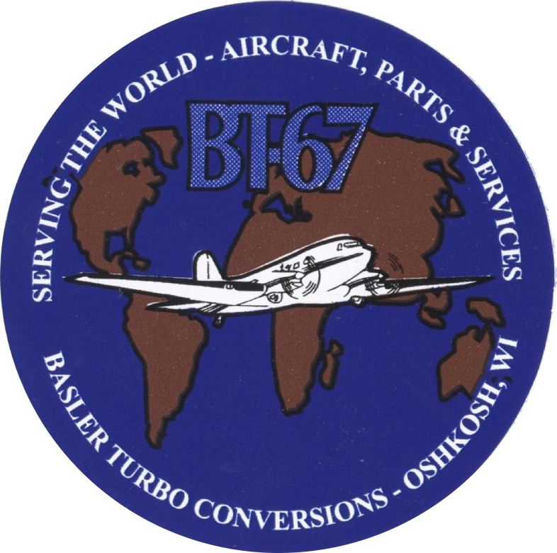 Memorabilia Sticker Basler BT-67 cropped