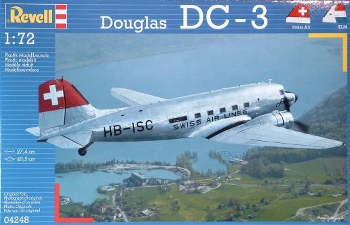 Revell 04248 Douglas DC-3 Swiss Air Lines 72 scale
