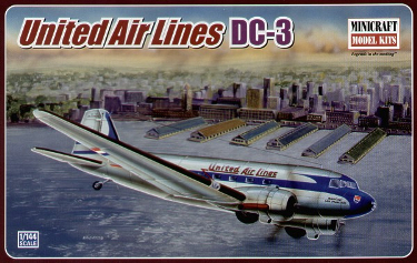 Minicraft 14509 Douglas DC-3 United Airlines 144 scale