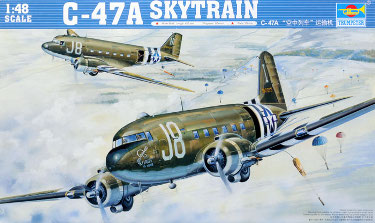 Trumpeter 02828 Douglas C-47A Skytrain US WW2 Transport Aircraft 48 scale