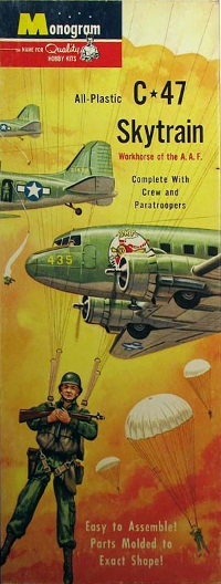 Monogram PA11-98 Douglas C-47 Skytrain with crew and paratroopers 90 scale